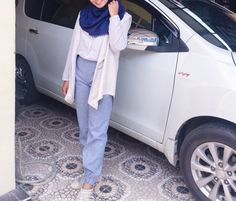 Blue hijab ootd