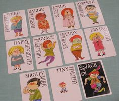 Slap Jack Cards. I had this same exact set when I was a kid.  I bought another set on e-bay.