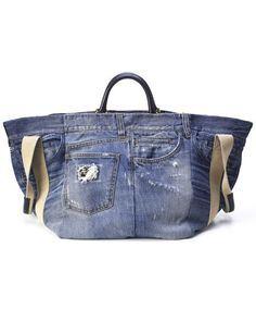 Risultati immagini per borsa jeans e pelle