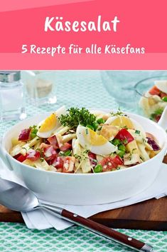 Cheese Salad: 5 Recipes for Real Cheese Fans WUNDERWEIB - Cheese fans, watch out: these super delicious cheese salad recipes will get your money& worth - Salad Dressing Recipes, Salad Recipes, Cottage Cheese Salad, Melon Recipes, Paleo Meal Plan, Easy Salads, Summer Salads, Grilling Recipes, Main Dishes