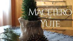 macetero de yute preciosísimo y muy rústico. Planter Pots, Diy, Home, Jute, Plant Pots, Plants, Xmas, Manualidades, Bricolage