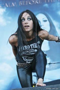 Lauren Harris - Her father is legendary Iron Maiden Bassist Steve Harris. Talent runs in the family!