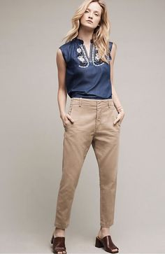 NWT Anthropologie Citizens Of Humanity khaki tan Surplus Classic Chinos Pants 30 #CitizensofHumanity #chinos