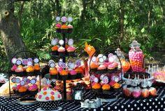 Halloween-Inspired Pink, Orange & Black Polka Dot 1st Birthday Party! | The TomKat Studio