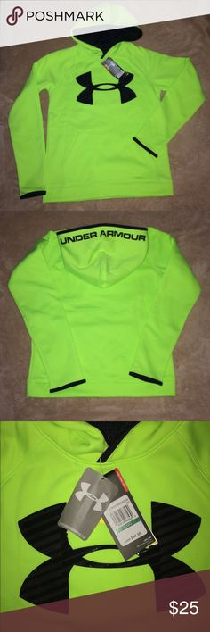 Under Armour Hoodie NWT Under Armour Sweatshirt. Boys youth size large. Water resistant. Under Armour Shirts & Tops Sweatshirts & Hoodies