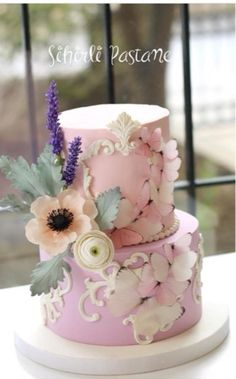 Butterfly Cake by Sihirli Pastane - http://cakesdecor.com/cakes/274561-butterfly-cake