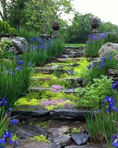 Landscape Design | Natural Stone Stairway
