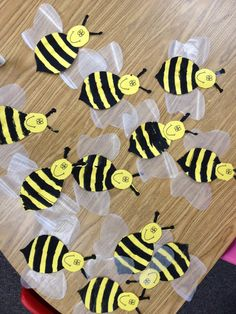 learned all about bees last week and I came up with this bee and beehive project for the kids to make. I am doing an Insect Unit for Ope. Bee Crafts For Kids, Adult Crafts, Art For Kids, Bee Party, Bee Theme, Spring Activities, Foam Crafts, Spring Crafts, Elementary Art