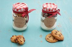 We have the perfect gift- cookie mix in a jar and hot chocolate mix in a jar. Find out how to make them here!