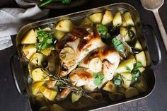 Honey chicken bake recipe, Bite – This is good with a plain green vegetable like steamed sweetstem broccoli or green beans - Eat Well (formerly Bite) Fall Dishes, Smoked Fish, Honey Chicken, Baked Chicken Recipes, Tray Bakes, Baking Recipes, Green Beans, Easy Meals, Stuffed Peppers