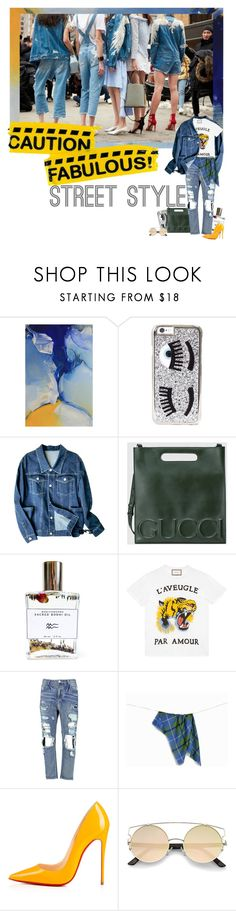 """nyfw 2"" by izoche ❤ liked on Polyvore featuring NOVICA, Chiara Ferragni, Gucci, Bodhi, Boohoo and Christian Louboutin"