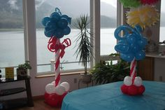 Dr. Seuss big and little columns designed by Balloons by Night Moods in Juneau, Alaska 523-1099 www.juneausbestballoons.com