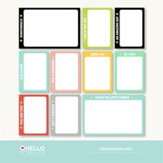 Project Life Printables » Marcy Penner free