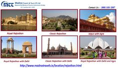 Rajasthan Tour Package from Chennai, Find amazing deals for Royal Rajasthan Holiday Tour Packages at Madras Travels & Tours. Book now to get a comfortable stay.