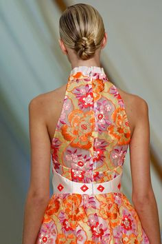 Erdem spring 2013. One of the prettiest backs of dresses I've seen  - the pattern, the mix of colours. Adorable.
