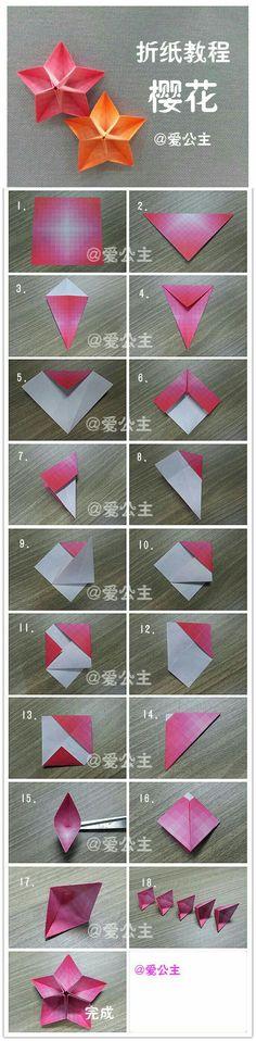 Diy paper flowers origami new Ideas Diy Origami, Origami And Kirigami, Paper Crafts Origami, Origami Tutorial, Flower Tutorial, Diy Paper, Origami Instructions, Oragami, Dollar Origami