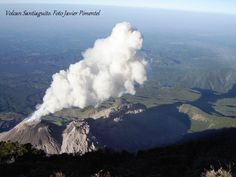 Volcano Santiaguito, seen from the top of the Volcano Santa María. Photo by Javier Pimentel Zaghi l Only the best of Guatemala