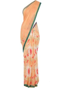 Almond pastel printed sari available only at Pernia's Pop-Up Shop.