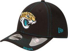 883c25cb New Era Men's Jacksonville 39Thirty Neoflex Black Stretch Fit Hat, Size:  Medium/Large