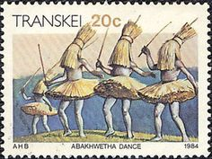 1984 Transkei - Abakhwetha dance of the Xhosa tribe Xhosa, Love Stamps, Vintage Stamps, Mail Art, Best Mom, Homeland, South Africa, The Past, History