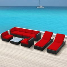 Luxxella Outdoor Patio Wicker BELLA 9 Pc Red Sofa Sectional Furniture All Weather Wicker Couch Set Luxxella http://www.amazon.com/dp/B00ELMSQK4/ref=cm_sw_r_pi_dp_n1xlvb1MWGE0J