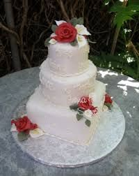Image result for cake with blue calla lilies