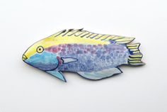 Fish Art wall sculpture Ceramic Fish Wall Art by acosmicmermaid