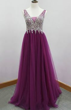 Real Made Beading Prom Dresses,Long Evening Dresses,Prom Dresses On Sale