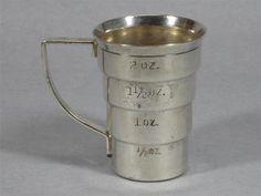 Vintage Silver Napier Signed Barware 2oz Measuring Cup Bartender Jigger | eBay