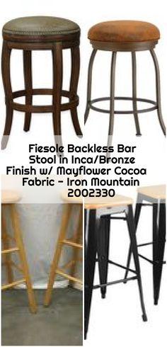 Fiesole Backless Bar Stool in Inca/Bronze Finish w/ Mayflower Cocoa Fabric – Iron Mountain 2002330 - counter bar stools Iron Mountain, Backless Bar Stools, Counter Bar Stools, May Flowers, Bronze Finish, Cocoa, Fabric, Furniture, Home Decor