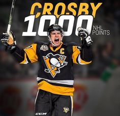 1000 Points for #SidneyCrosby. February 16, 2017