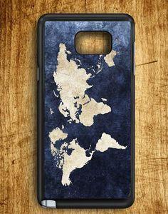 World Grunge Map Samsung Galaxy Note Edge Case