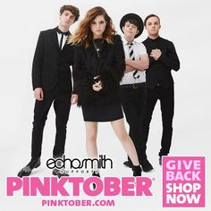 We're delighted to have Echosmith as this year's Pinktober supporters!