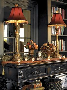 Gorgeous sideboard...black and red