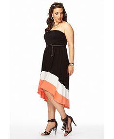 Posh Colorblocked Dress w/ Belt | FOREVER 21 - 2050435791