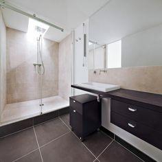 muiebles de baño con laminado de madera