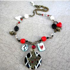 Wahey!!!!!!! Alice in Wonderland Necklace  White Rabbit Necklace   by Msemrick, $60.00