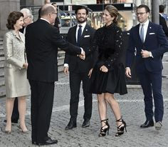 King Carl XVI Gustaf, Queen Silvia, Prince Carl Philip, Princess Madeleine and Prince Daniel attend the Riksdag Concert at Stockholm Concert Hall