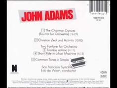 """101. A year deepened & enriched by composers ended with a low key gem, """"Ensemble Pieces"""" on Obscure, with Christopher Hobbs, Gavin Bryars, and this one by John Adams: Christian Zeal and Activity."""
