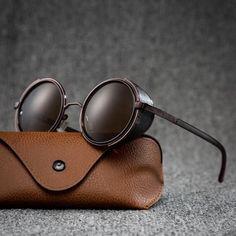 Steampunk Men, Steampunk Goggles, Steampunk Sunglasses, Men Sunglasses Fashion, Sunglasses Women, Fashion Eyewear, Men's Eyewear, Polarized Sunglasses, Sunglasses Case