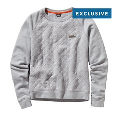 Patagonia Women\'s Reclaimed Cotton Crew - Feather Grey FEA // Truth to Materials Collection - made of upcycled cotton fabrics // $129