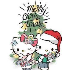 Kitty et Daniel, Sanrio Hello Kitty, Chat Hello Kitty, Hello Kitty Themes, Hello Kitty Plush, Hello Kitty My Melody, Hello Kitty Christmas, Christmas Cats, Christmas Greetings, Merry Christmas