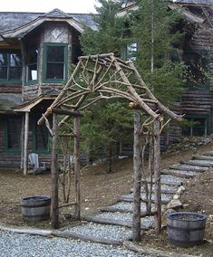 Rustic Twig Trellis | My Home Design