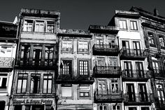 Black and White facades in Porto, Portugal.  Photo by Per Lidvall  www.AspectusForma.com