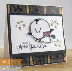 Create With Me: A spooktacular dracula ghost Halloween card using stamps from Waltzingmouse.