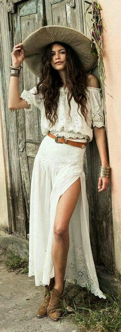20 Best country western dresses for weddings 17 – Style Female Hippie Style, Gypsy Style, Bohemian Style, Boho Fashion Summer, Boho Outfits, Mode Boho Gypsy, Style Nomade, Mode Country, Country Western Dresses