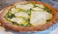 Spinach Quiche Recipe: a healthy holiday recipe