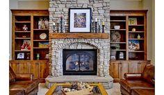 Nice stone fireplace