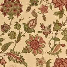 Image result for cream green and red curtain fabrics