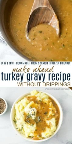 Best Turkey Gravy Recipe without Drippings | Make Ahead Gravy